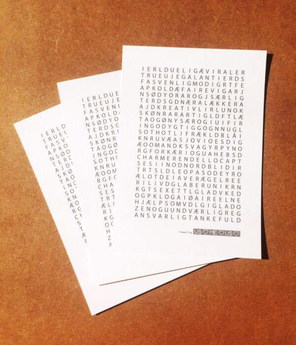 Frame it postkort by UsMeUs