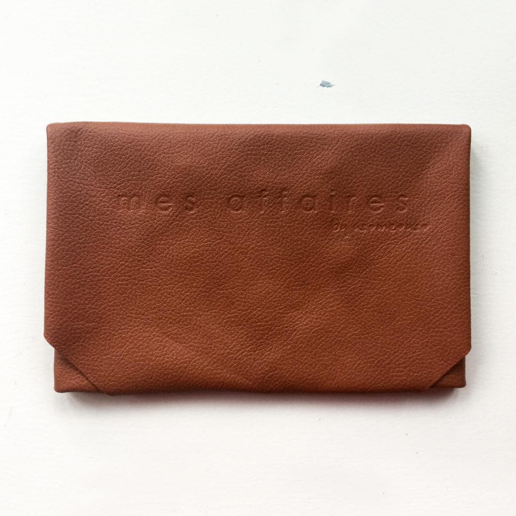 MES AFFAIRES clutch brun