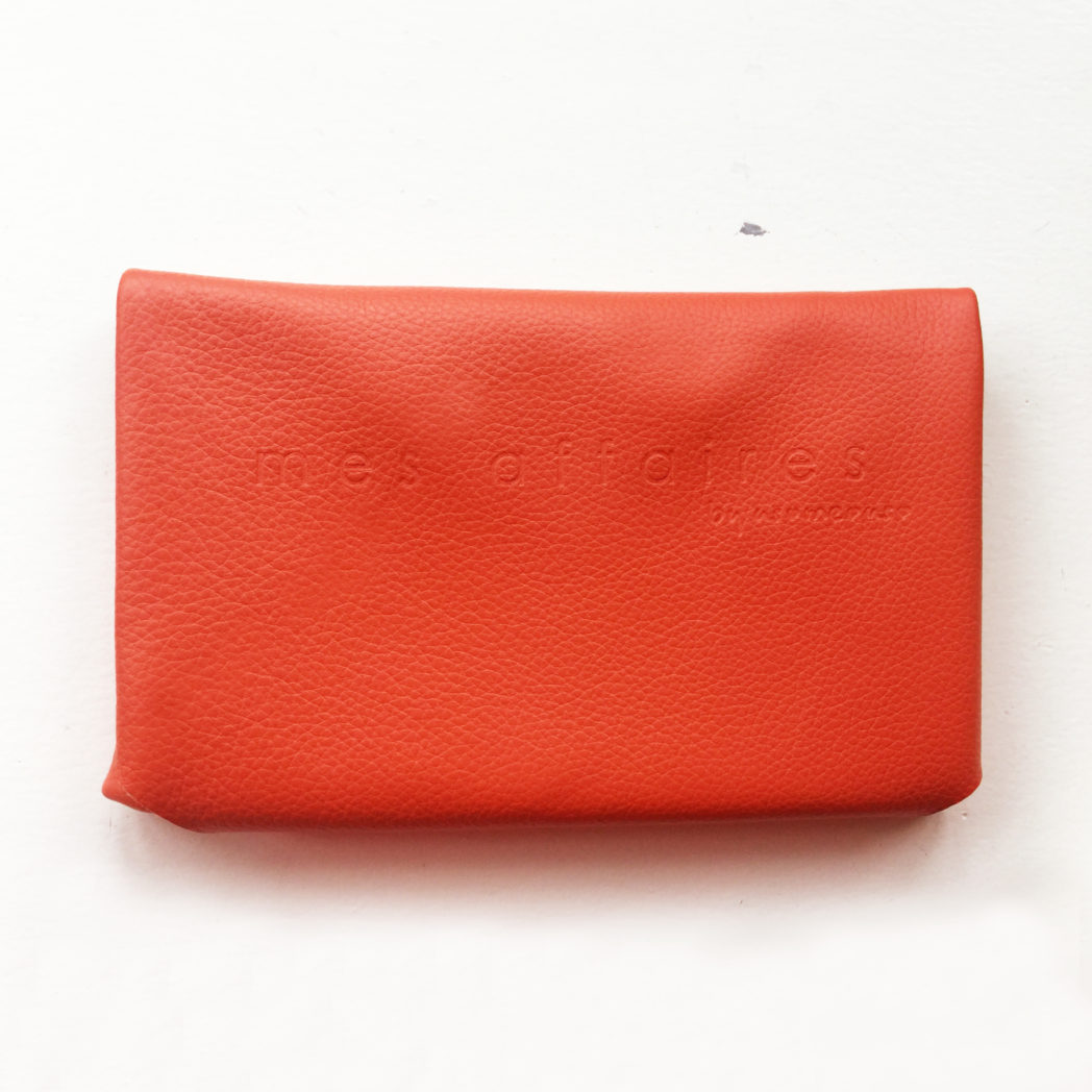 MES AFFAIRES clutch mørk orange
