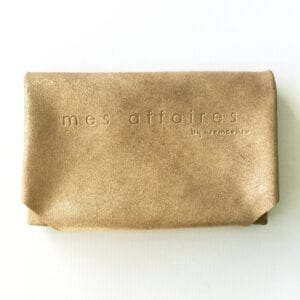 MES AFFAIRES clutch guld