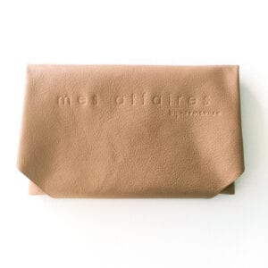 MES AFFAIRES clutch toffee