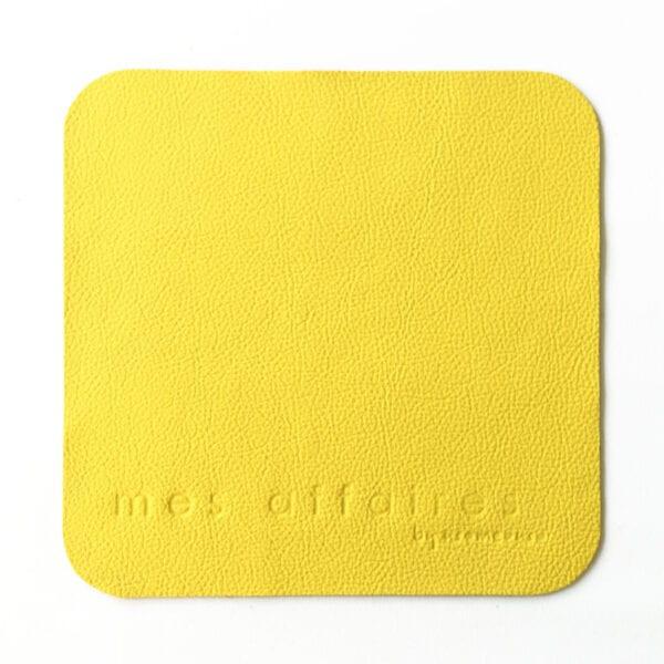 Musemåtte læder gul MES AFFAIRES