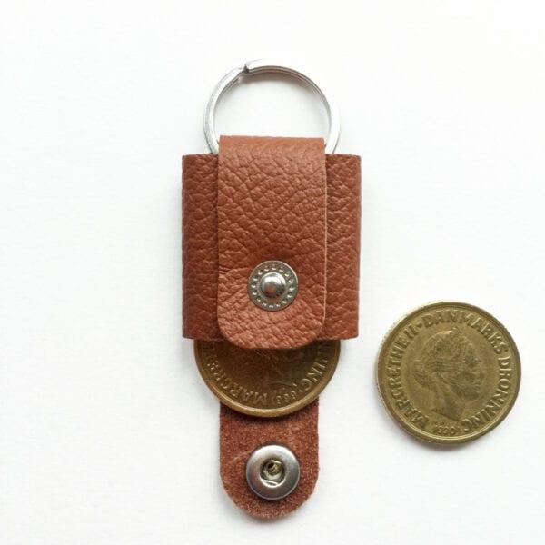 USMEUS møntpung til nøglering brun