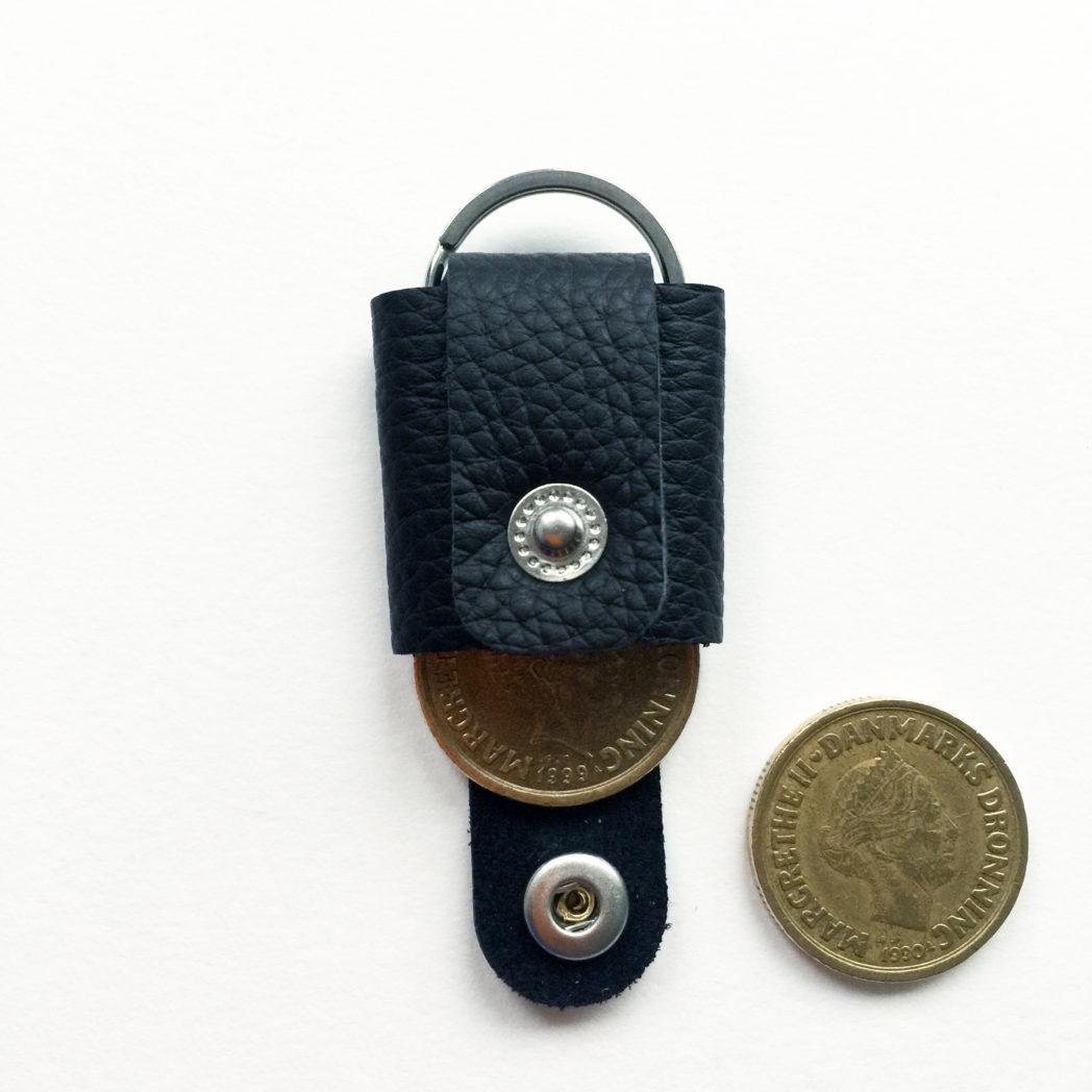 USMEUS møntpung til nøglering sort
