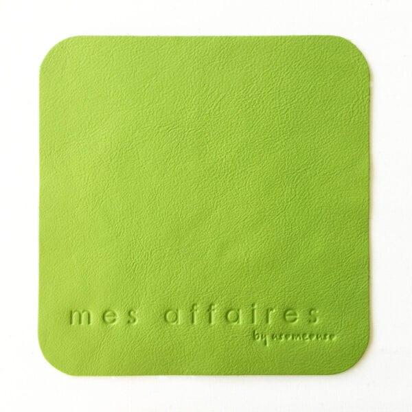 Musemåtte læder lys grøn MES AFFAIRES