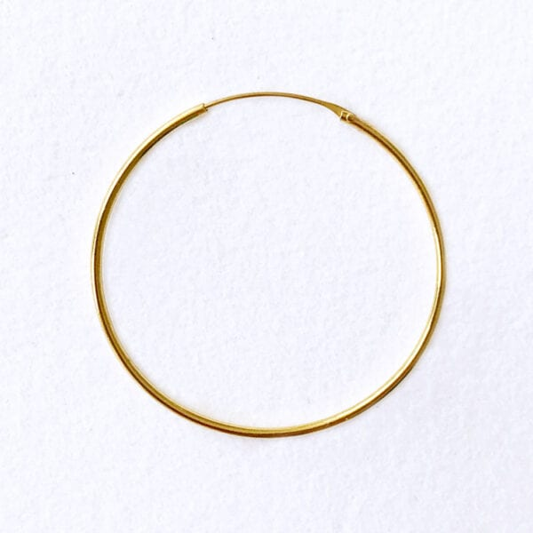 Hoop 40 mm guldbelagt messing
