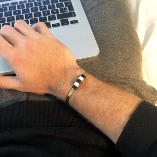 BAEKKE armbånd til mænd sort hvid
