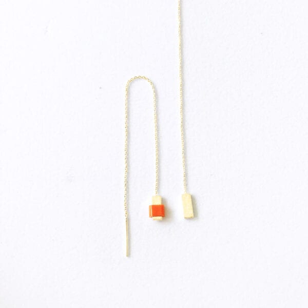 Kæde ørering med perle